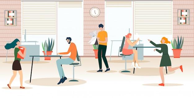 Obowiązki dystrybucji ulotek reklamowych w biurze.