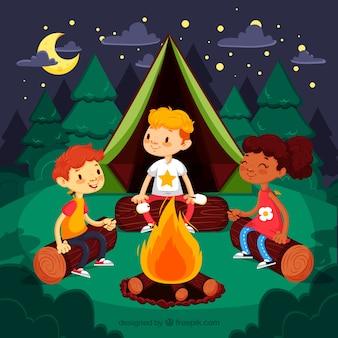 Obóz letni tło