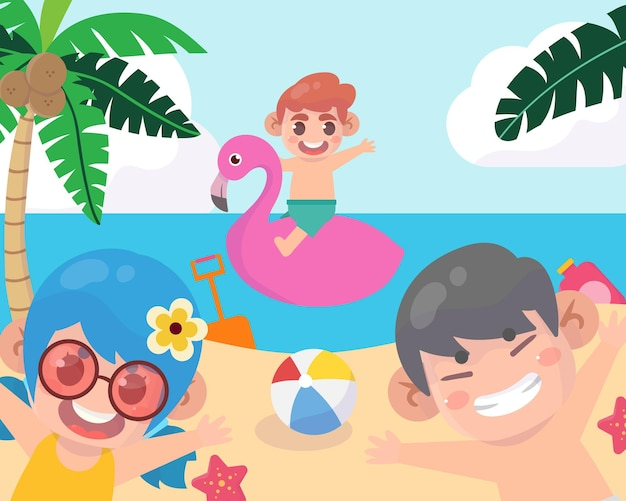 Obóz letni z dziećmi na plaży?