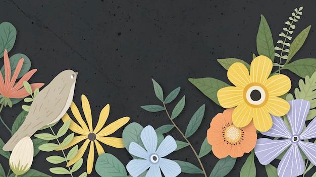Obramowanie kwiatu na czarno