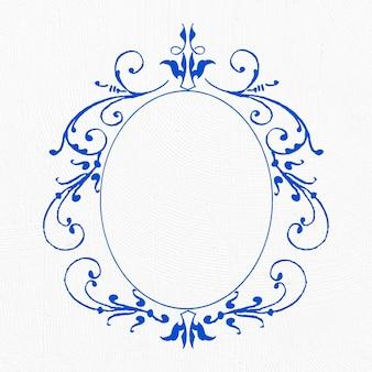 Obramowanie ramki w kolorze niebieskim filigran