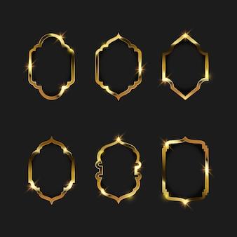 Obramowanie ramki złota