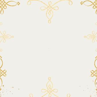 Obramowanie ramki złoty filigran