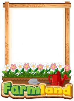 Obramowanie szablonu projektu z pięknymi kwiatami w ogrodzie