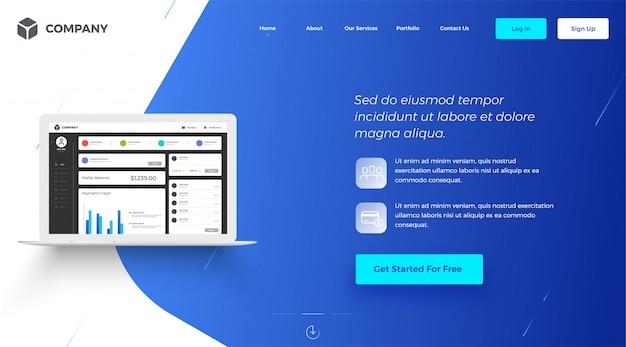 Obraz baneru dla stron internetowych lub aplikacji.