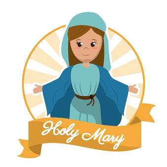 Obraz chrześcijaństwa najświętszej maryi panny