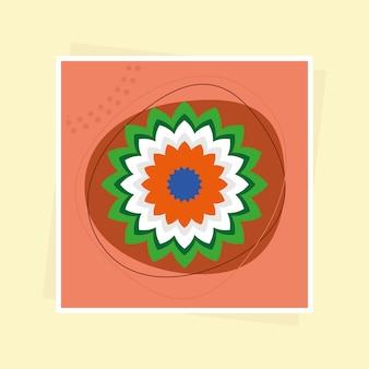 Obraz dekoracji kwiatowej