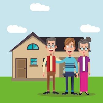 Obraz domu rodziny