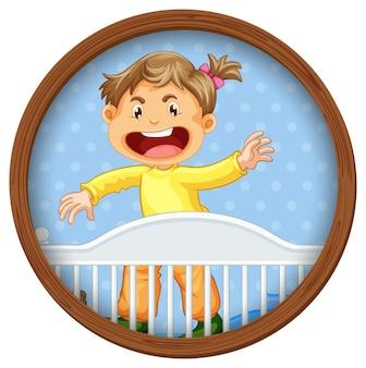 Obraz dziecka w łóżeczku