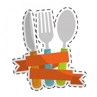 Obraz ikona sztućce jadalnia
