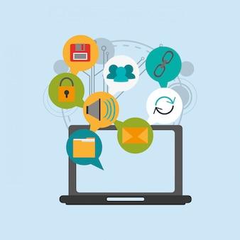 Obraz ikony systemu bezpieczeństwa wirtualnego
