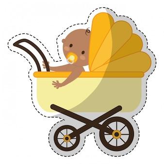 Obraz ikony wózka dziecięcego