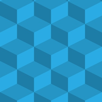 Obraz izometryczny. narysowane jest niebieskie tło z kostkami objętościowymi. wszystkie elementy są ozometryczne.