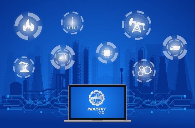 Obraz koncepcyjny przemysłu 4.0