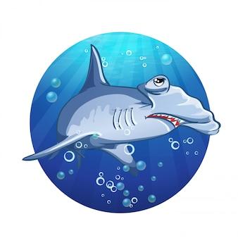 Obraz kreskówka rekin młot