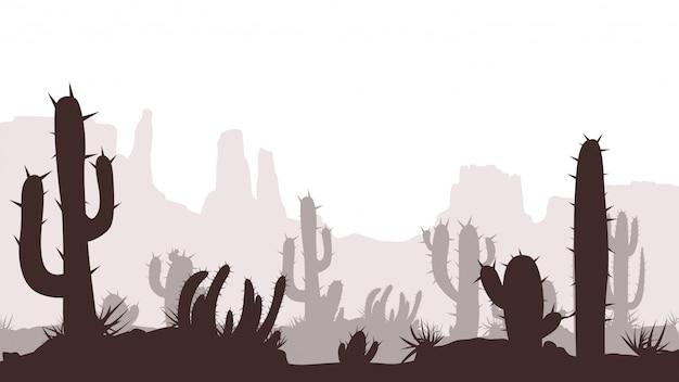 Obraz pustyni kaktus