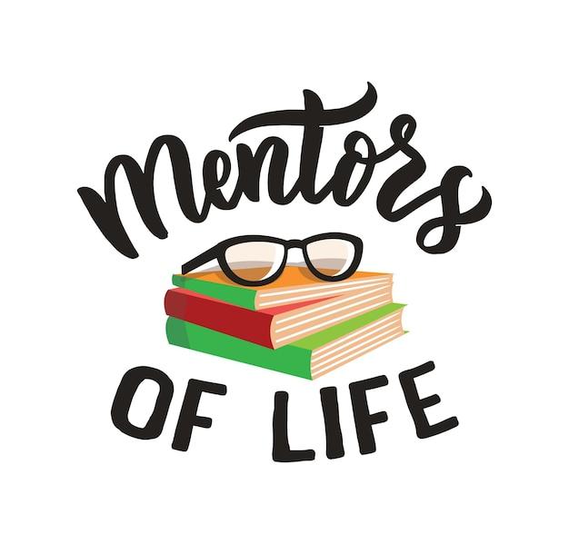 Obraz szkoły z tekstem wyrażenie mentorzy życia jest dobre na szczęśliwy dzień nauczyciela