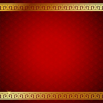 Obraz tła chińskiego wzoru. złoty i czerwony kolor