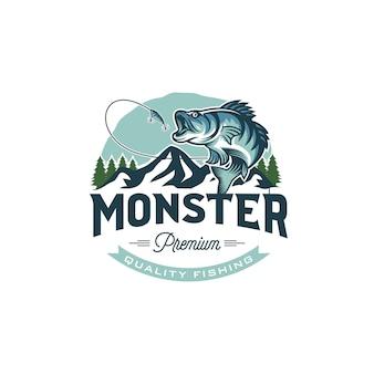 Obraz vintage logo połowów