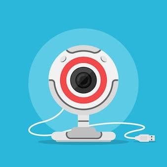 Obraz z kamery internetowej, styl ilustracji