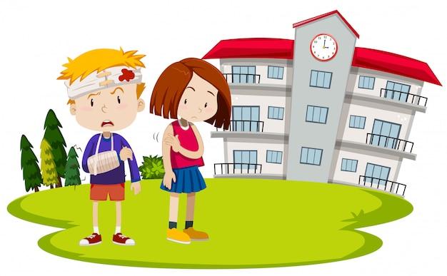 Obrażenia uczniów w szkole