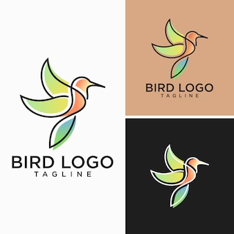 Obrazy creative bird logo