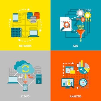 Obrazy wektorowe analytics bazy danych