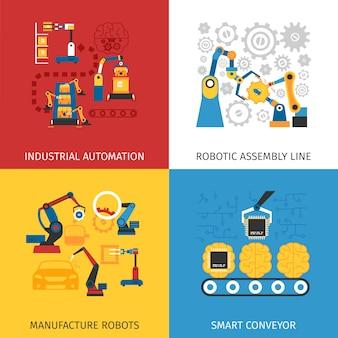 Obrazy wektorowe industrial assembly line
