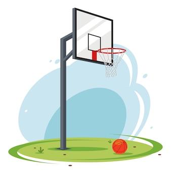 Obręcz do koszykówki na podwórku