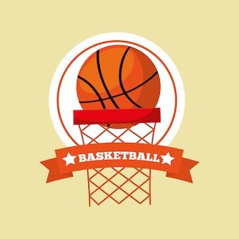 Obręcz do koszykówki piłka sport godło