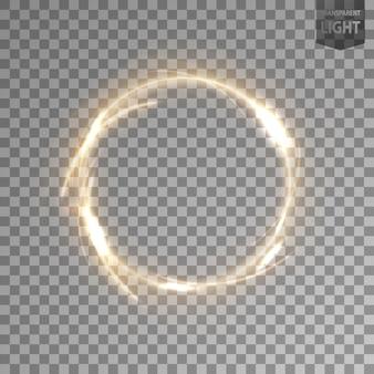 Obrotowe złote światło