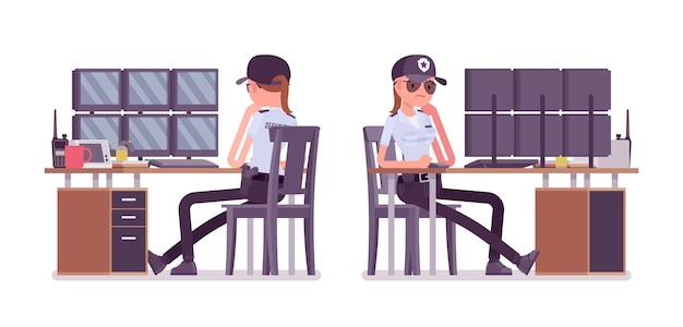 Obserwacja umundurowanego oficera lub agenta ochrony