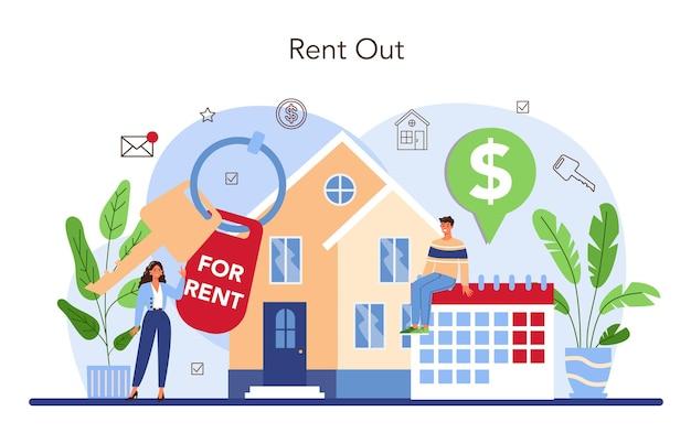 Obsługa agencji nieruchomości wykwalifikowany pośrednik lub pośrednik pomaga klientowi