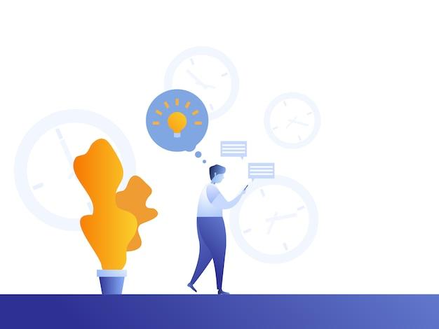 Obsługuje czas w mediach społecznościowych dla znalezienia świeżego pomysłu