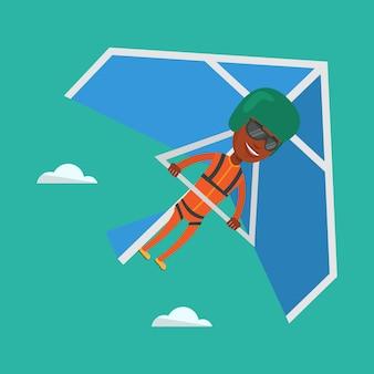 Obsługuje latanie na szybowa wektoru ilustraci.