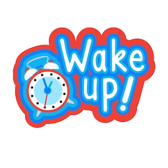 Obudź się naklejki social media network message badges