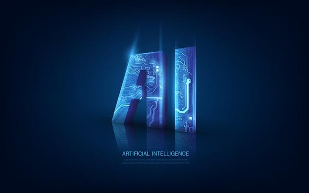 Obwód ai 3d w futurystycznej koncepcji dostosowanej do technologii przyszłości