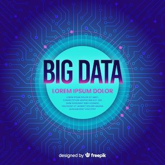 Obwód duże tło danych
