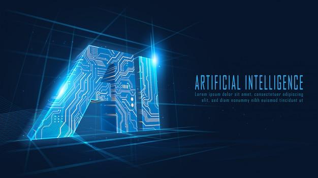 Obwód sztucznej inteligencji w futurystycznej koncepcji
