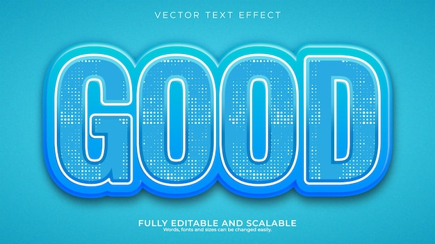 Ocean blue 3d edytowalny efekt tekstowy