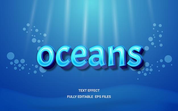 Ocean edytowalny efekt tekstowy
