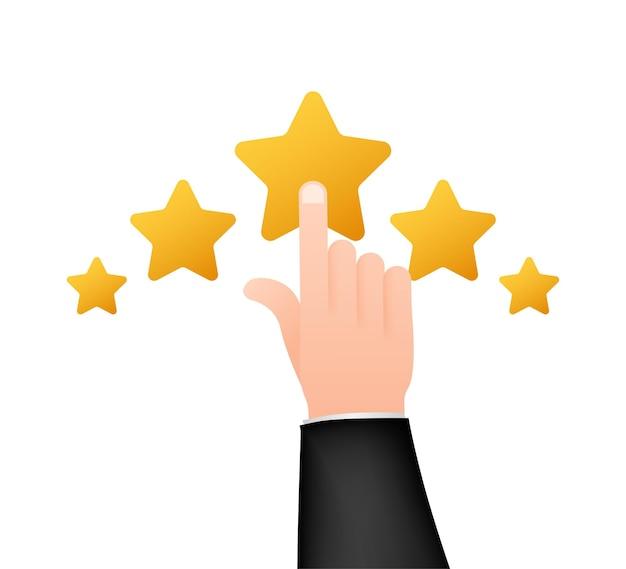 Ocena klienta, ocena użyteczności, informacje zwrotne, koncepcja izometryczna systemu ocen. ilustracja wektorowa.