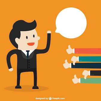 Oceny pomysł na biznes wektor