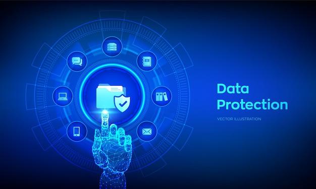 Ochrona danych ilustracja bezpieczeństwa danych osobowych