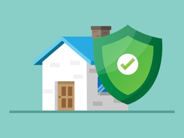 Ochrona domu z ilustracją osłony tarczy
