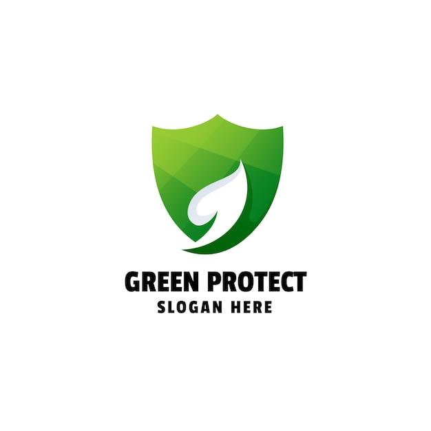 Ochrona gradientu kolorowe logo design