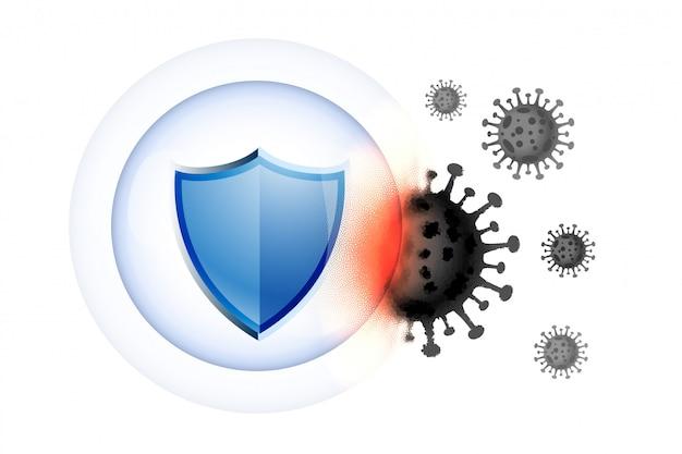 Ochrona medyczna osłania tarczę przed wirusami