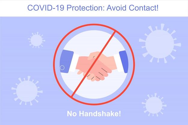 Ochrona przed koronawirusem bez uścisku dłoni