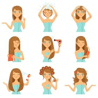 Ochrona zdrowia włosów, mycie twarzy i długie włosy