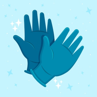 Ochronne rękawice medyczne